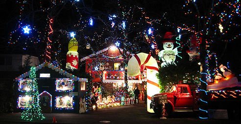 Christmas Lights in Victoria BC 2012